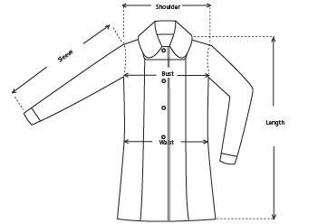 Finn Twill Quilted Trench Coat size measurements