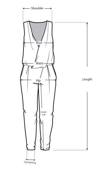 Riso V-neck Floral Beaded  Romper size measurements