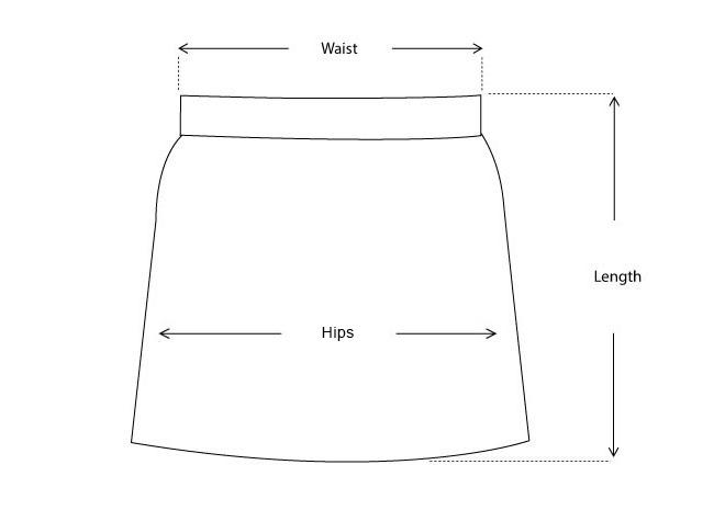 Jayla Vegan Leather Pleated Midi Skirt size measurements