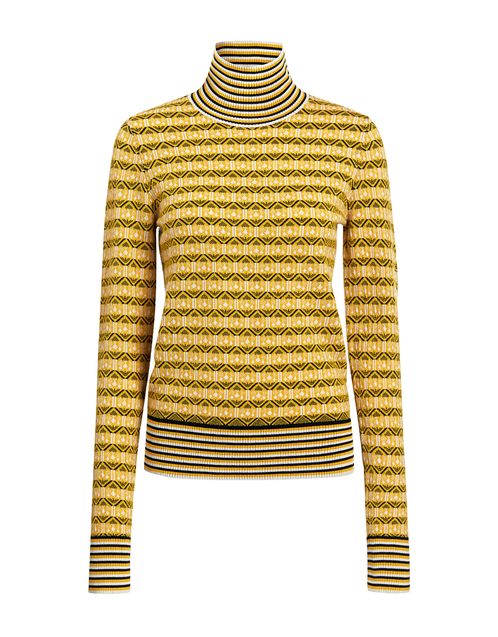 Versace Jeans Couture # turtleneck  sweater # striped # fine wool # M